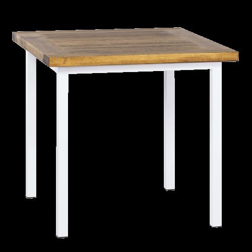 Stół industrialny drewniany 80 biały