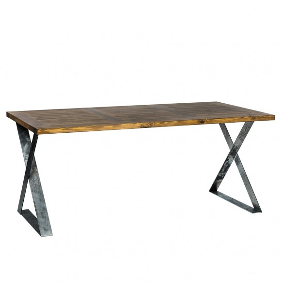 Prostokątny stół z blatem z drewna do jadalni