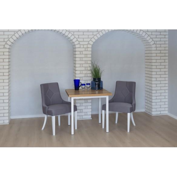 Nowoczesny stół industrialny drewniany 80 biały