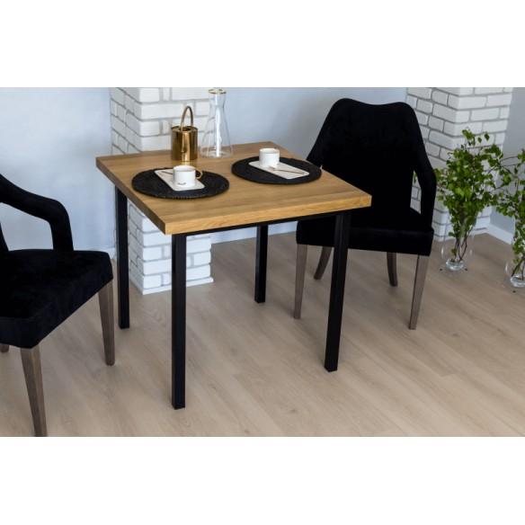 Stół industrialny drewniany glamour