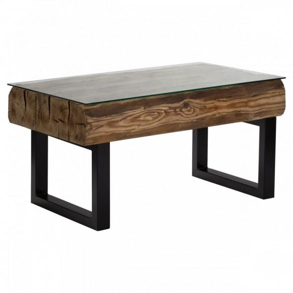 Stół kawowy industrialny stare drewno