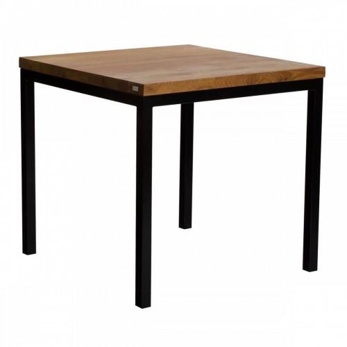 Kwadratowy stół loftowy dębowy olejowany