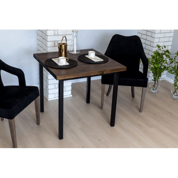 Nowoczesny stół drewniany styl industrialny 80