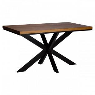Stół loftowy z blatem drewnianym 140 na 80