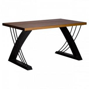 Stół z blatem drewnianym styl loft