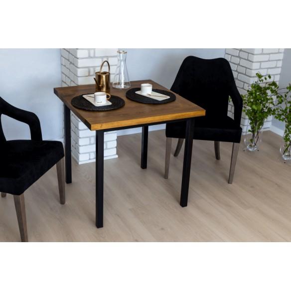 Industrialny stół drewniany 80 do salonu