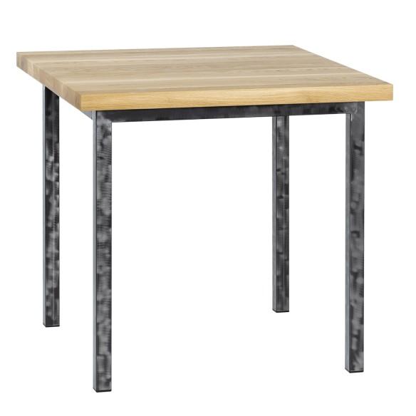 Metalowy stół industrialny drewniany 80