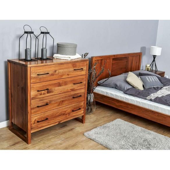 Łóżko w stylu skandynawskim drewniana
