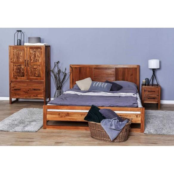 Łóżko 160 w stylu skandynawskim z drewna