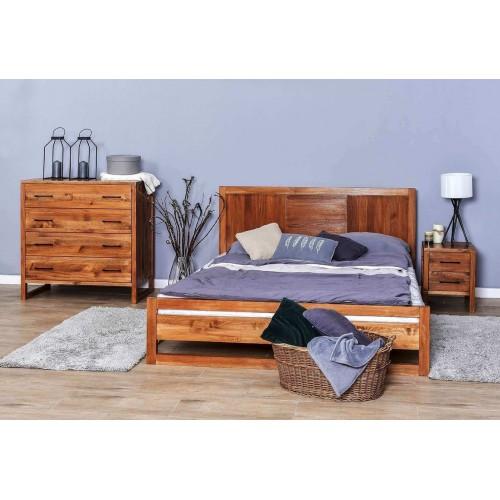 Łóżko 90 w stylu skandynawskim drewniane