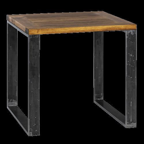 Stół metal drewno 80 szczotkowany