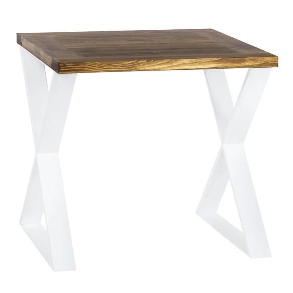Nowoczesny stół industrialny 80 biały