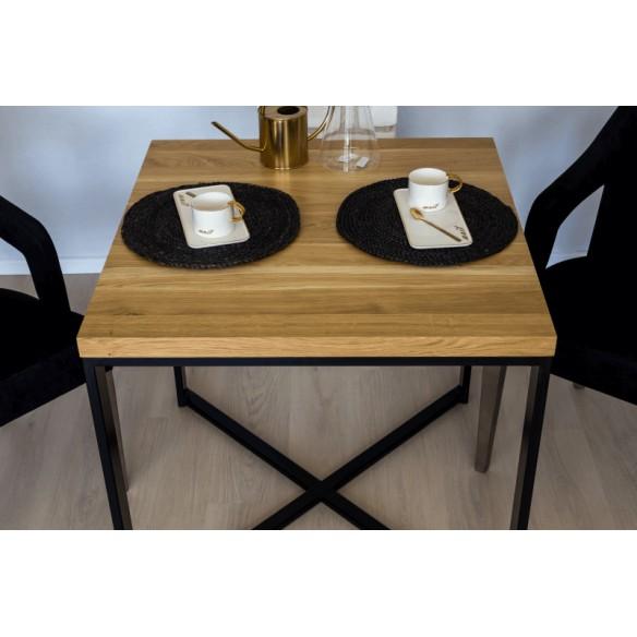 Industrialny stół metalowy drewniany do salonu