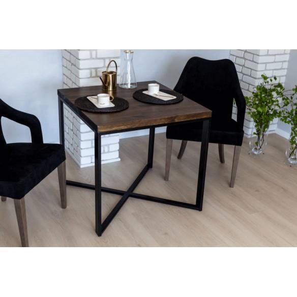 Loftowy stół do kawiarni