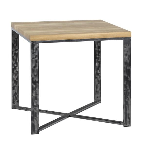 Stół metal drewno 80 stal