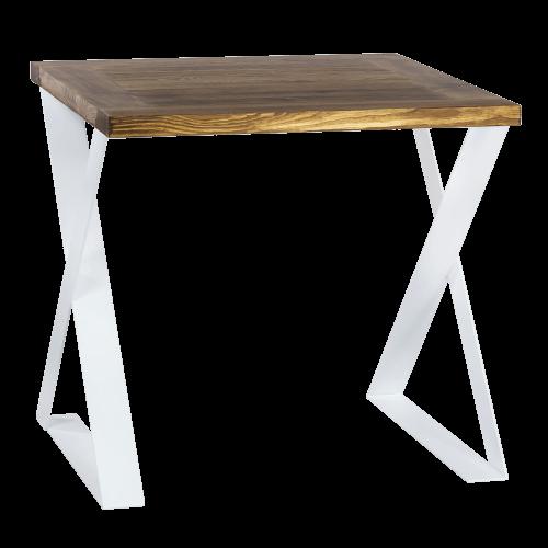 Nowoczesny stół industrialny biały
