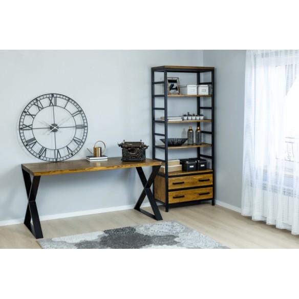 Nowoczesne biurko metal drewno industrial