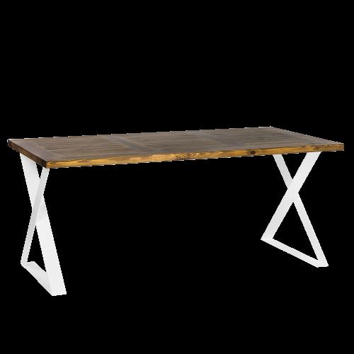 Biurko skandynawskie metal drewno