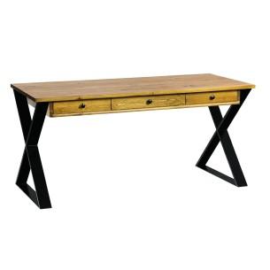 Nowoczesne biurko industrialne czarne