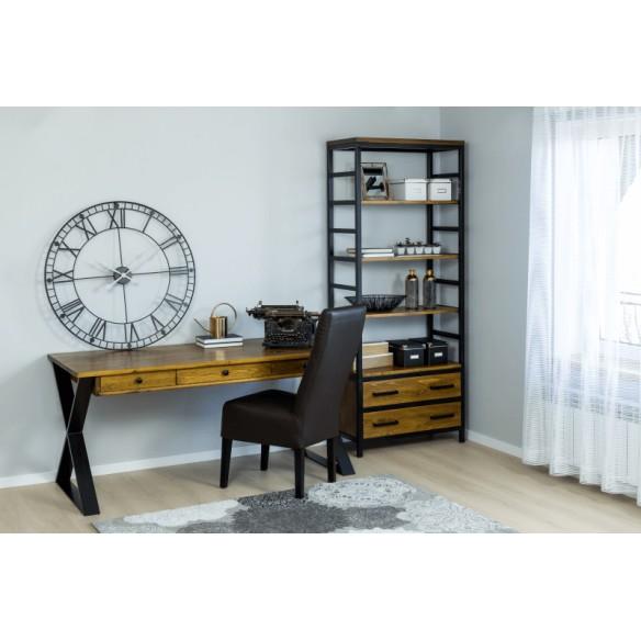 Nowoczesne biurko industrialne drewniane