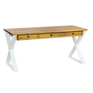 Nowoczesne biurko industrialne białe