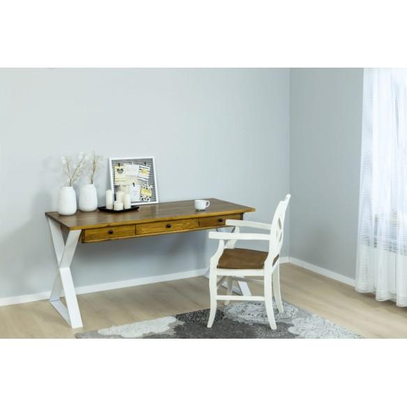 Nowoczesne biurko styl skandynawski białe