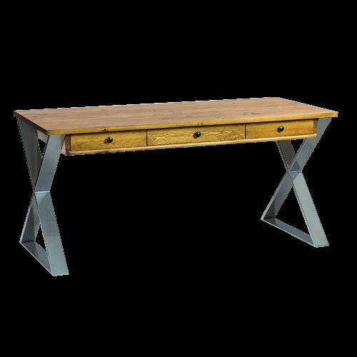 Nowoczesne biurko industrialne chrom