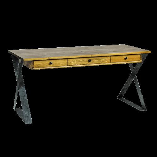 Biurko metal drewno szczotkowane