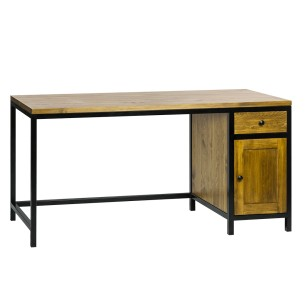 Industrialne biurko z szufladami