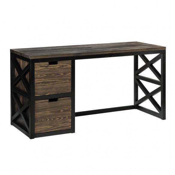 Industrialne biurko z szufladami loft