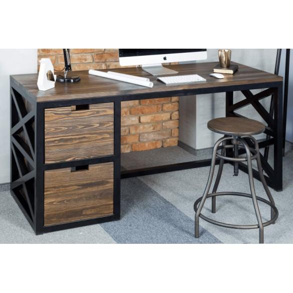 Industrialne biurko metalowe do gabinetu
