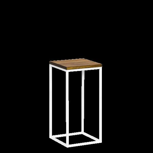 Kwietnik metal drewno biały