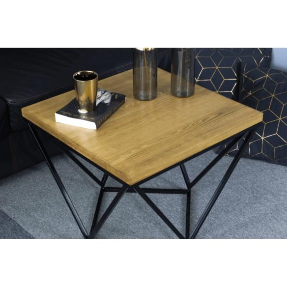 Industrialny stolik kawowy drewniany