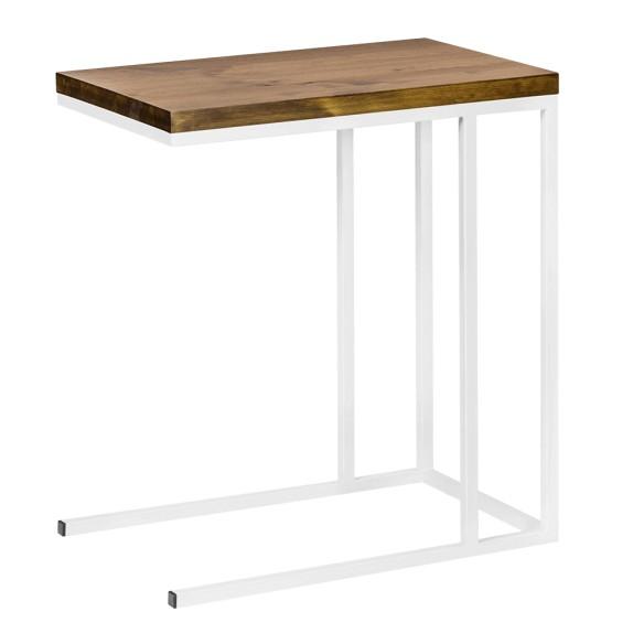Industrialny stolik komputerowy biały