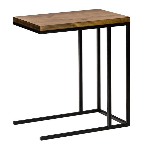 Industrialny stolik komputerowy czarny