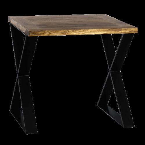 Stół industrialny drewniany 80 czarny