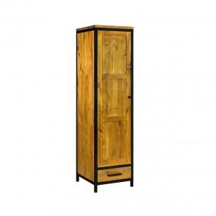 Szafa drewniana w stylu industrialnym