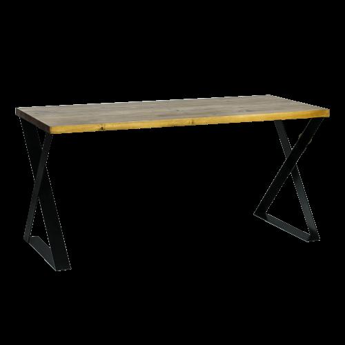 Biurko metalowe czarne nowoczesne