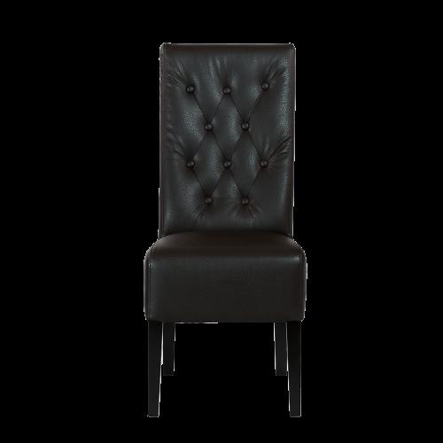 Krzesło loftowe skórzane