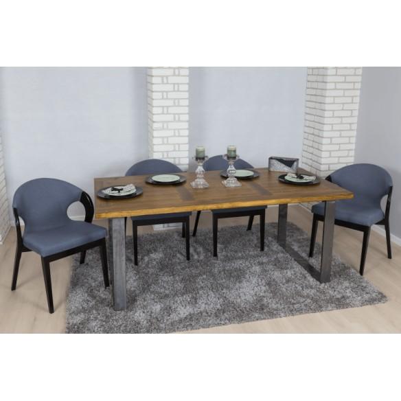 Stół loftowy kwadratowy z krzesłami