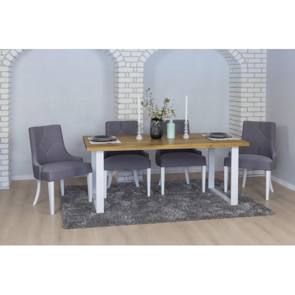Stół drewniany w stylu industrialnym
