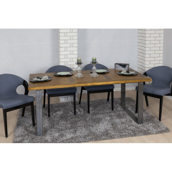 Loftowy stół metal drewno