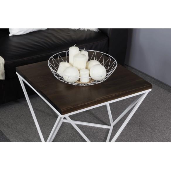 Industrialny nowoczesny stolik kawowy