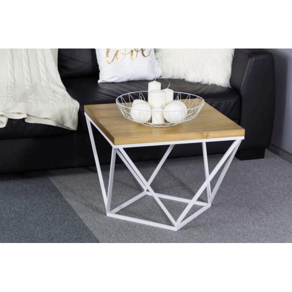 Metalowy nowoczesny stolik kawowy