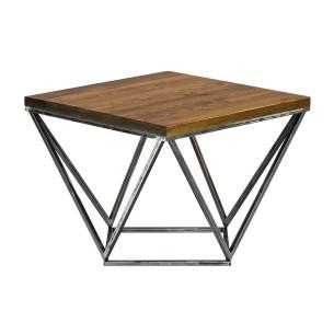 Industrialny stolik kawowy szczotkowany
