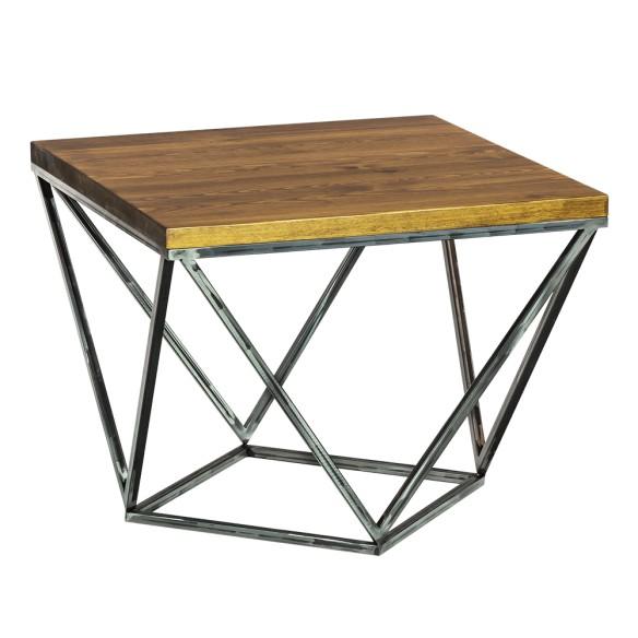 Stolik kawowy w stylu industrialnym szczotkowany