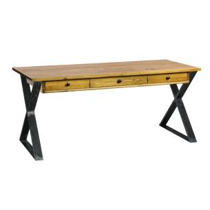 Nowoczesne biurko industrialne szczotkowane