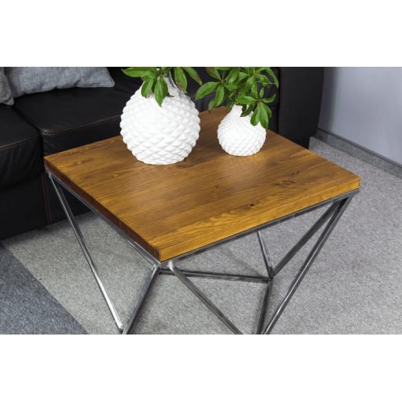 Stolik kawowy w stylu industrialnym metal drewno