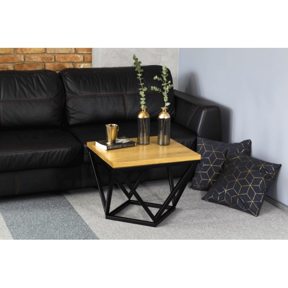 Stolik kawowy loftowy metal drewno