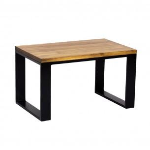 Stolik kawowy industrialny metal drewno